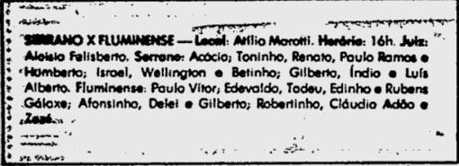 serrano fluminense 13 09 1981