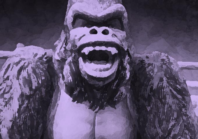 monga mulher gorila pincel
