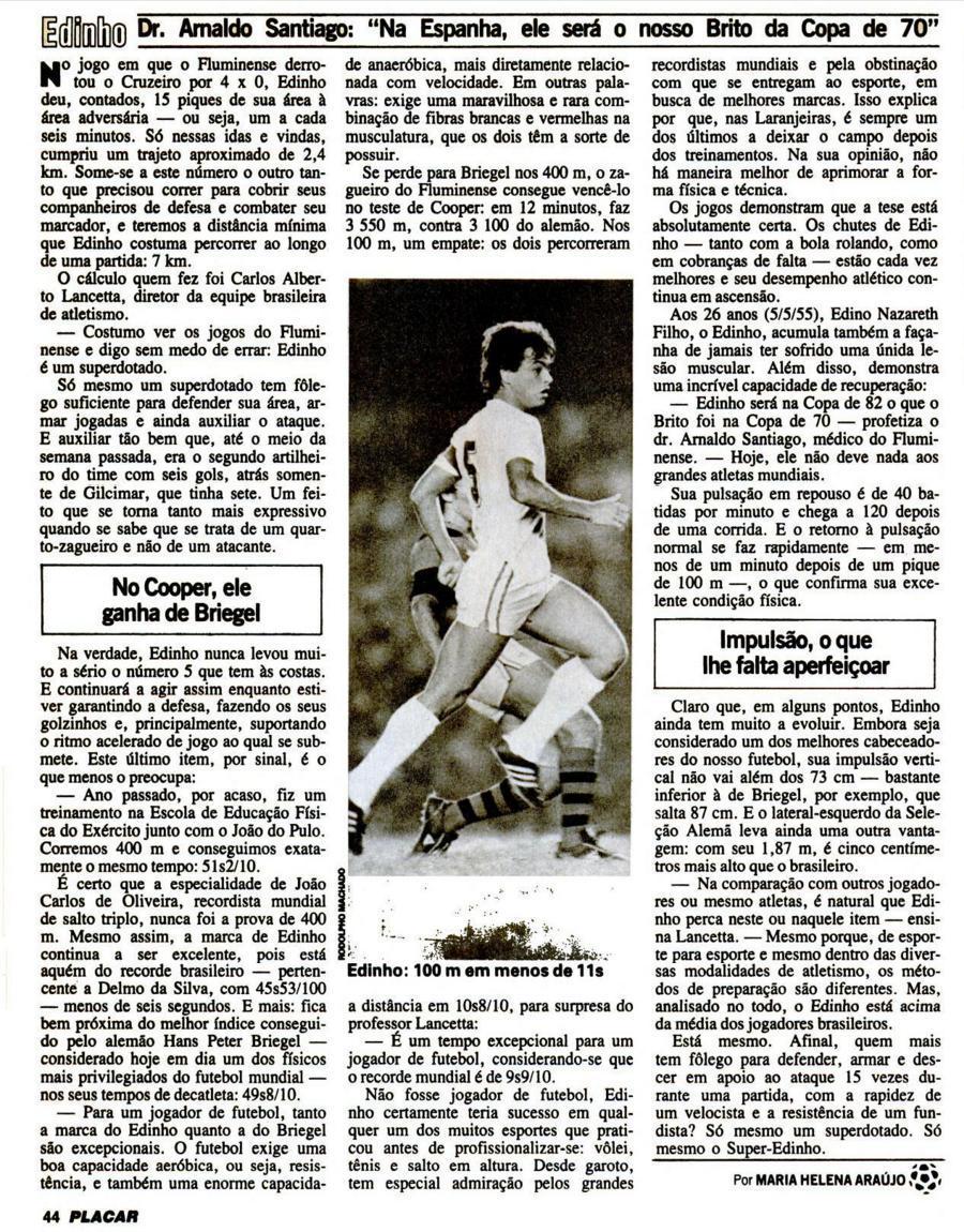 edinho fluminense 9 4 1982 revista placar