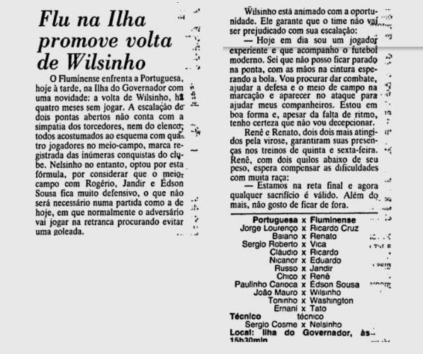 flu wilsinho 25 05 1986
