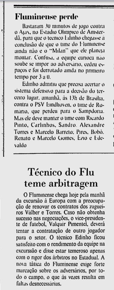 fluminense 10 08 1991