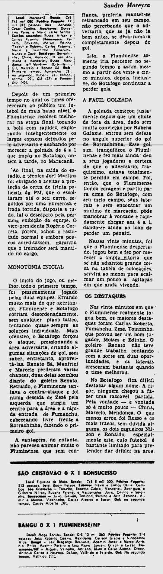 fluminense 4 1 botafogo 15 07 1979