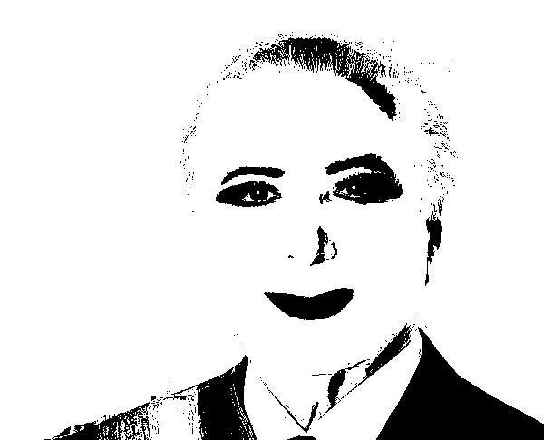 temer preto e branco]