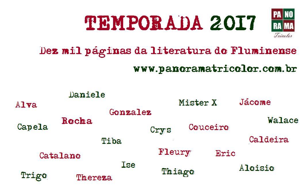 temporada 2017 nomes datilografados